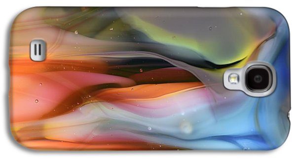 Abstracts Glass Art Galaxy S4 Cases - Sea...or Sky? Galaxy S4 Case by Kimberly Lyon