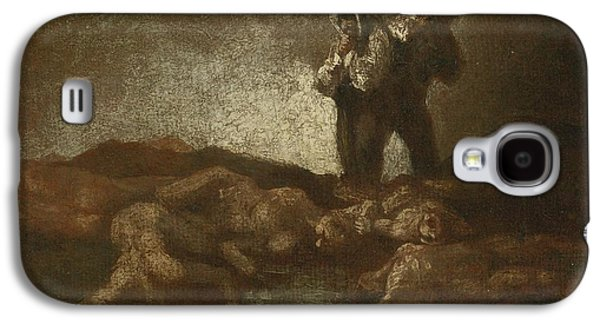The Followers Galaxy S4 Cases - Searching Among The Corpses Galaxy S4 Case by Celestial Images
