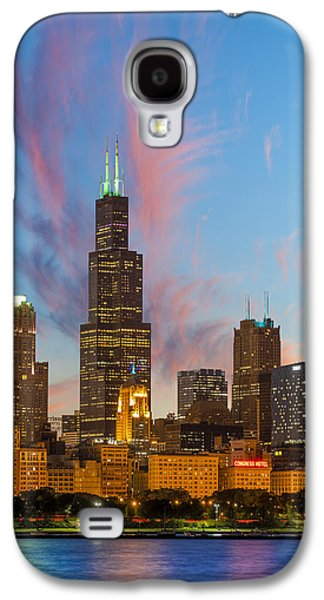 Light Galaxy S4 Cases - Sears Tower Sunset Galaxy S4 Case by Sebastian Musial