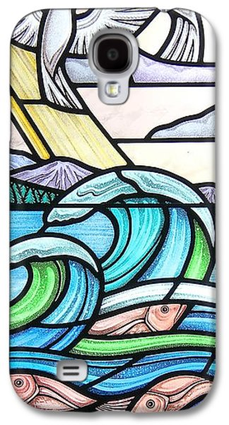 Religious Glass Art Galaxy S4 Cases - Seascape Galaxy S4 Case by Gilroy Stained Glass