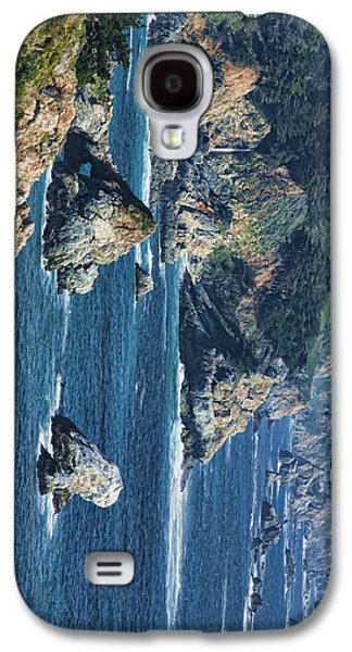 Coast Hwy Ca Galaxy S4 Cases - Seascape on CA Highway 1 Galaxy S4 Case by Gregory Scott