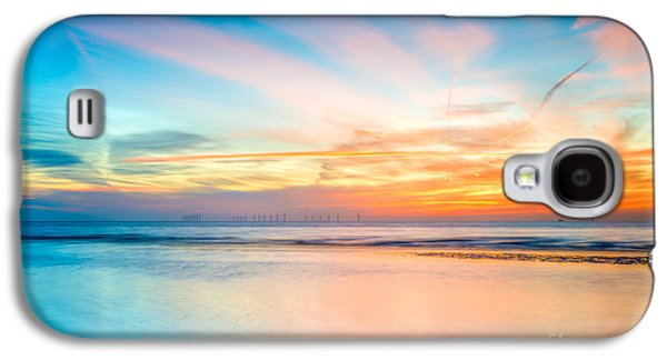 Shore Digital Art Galaxy S4 Cases - Seascape Sunset Galaxy S4 Case by Adrian Evans