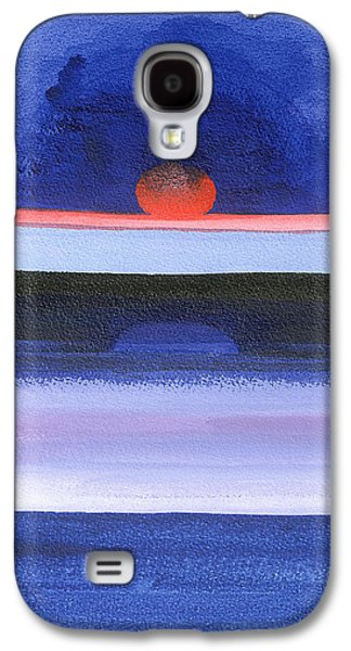 Abstracted Galaxy S4 Cases - Seascape, Sunset, Helsinki, 1991 Acrylic On Canvas Galaxy S4 Case by Izabella Godlewska de Aranda