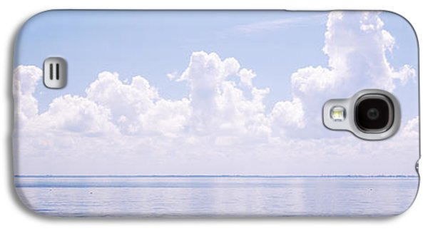 Sunshine Skyway Bridge Galaxy S4 Cases - Seascape With A Suspension Bridge Galaxy S4 Case by Panoramic Images