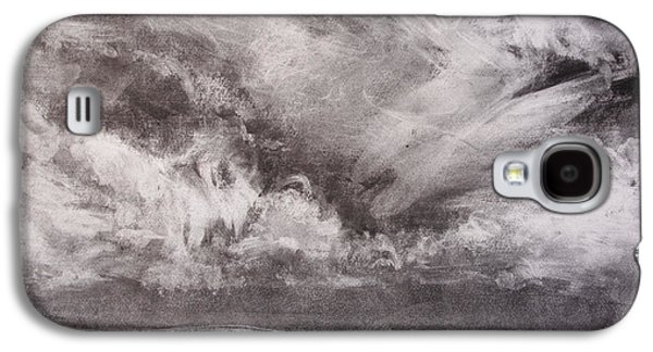 Fog Mist Pastels Galaxy S4 Cases - Seascape With Cloudy Sky Galaxy S4 Case by Janet Goddard