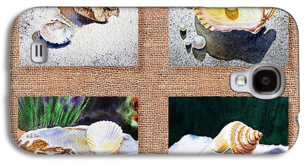 Interior Still Life Paintings Galaxy S4 Cases - Seashell Collection I Galaxy S4 Case by Irina Sztukowski
