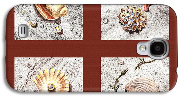 Interior Still Life Paintings Galaxy S4 Cases - Seashell Collection IV Galaxy S4 Case by Irina Sztukowski
