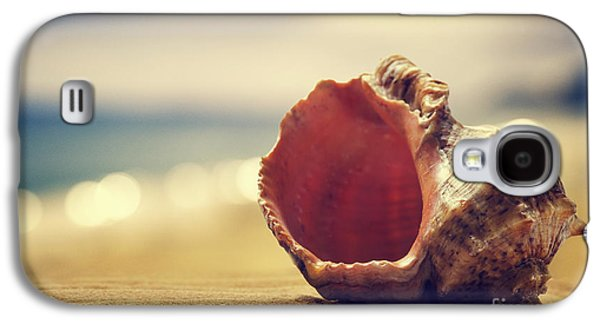 Sun Pyrography Galaxy S4 Cases - Seashell in the sand  Galaxy S4 Case by Jelena Jovanovic