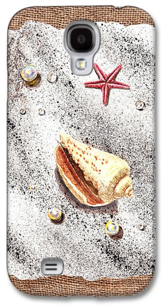 Seashell Art Galaxy S4 Cases - Seashell Pearls And Water Drops Collection Galaxy S4 Case by Irina Sztukowski