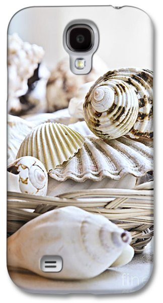 Abstracted Galaxy S4 Cases - Seashells Galaxy S4 Case by Elena Elisseeva