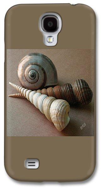 Ocean Art. Beach Decor Galaxy S4 Cases - Seashells Spectacular No 29  Galaxy S4 Case by Ben and Raisa Gertsberg