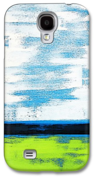 Color Block Galaxy S4 Cases - Seaside - Abstract Modern Art by Sharon Cummings Galaxy S4 Case by Sharon Cummings