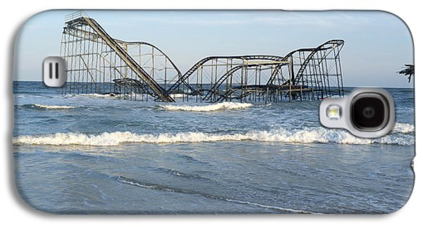 Seaside Heights - Jet Star Roller Coaster In Ocean Galaxy S4 Case by Niday Picture Library