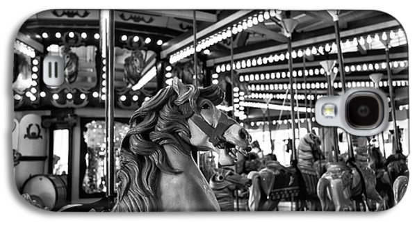 Seaside Heights Galaxy S4 Cases - Seaside Heights Carousel Horse mono Galaxy S4 Case by John Rizzuto