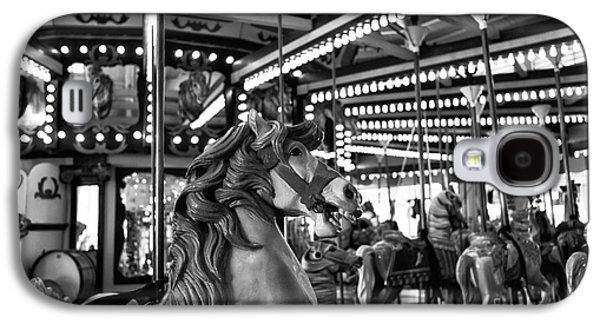 Seaside Heights Photographs Galaxy S4 Cases - Seaside Heights Carousel Horse mono Galaxy S4 Case by John Rizzuto