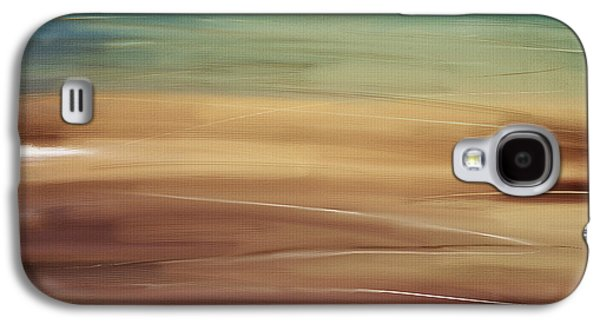 Sunset Abstract Digital Galaxy S4 Cases - Seaside Galaxy S4 Case by Lourry Legarde