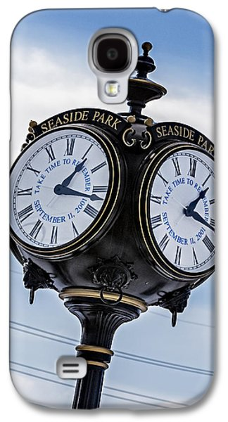 Seaside Heights Photographs Galaxy S4 Cases - Seaside Park September 11 Memorial Clock Galaxy S4 Case by Susan Candelario