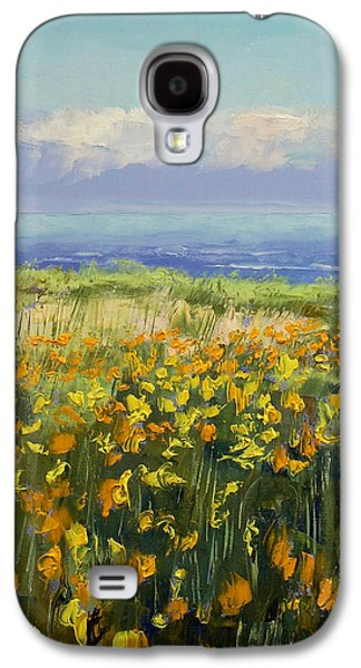 Seaside Galaxy S4 Cases - Seaside Poppies Galaxy S4 Case by Michael Creese