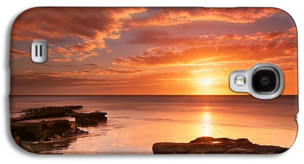 Sun Galaxy S4 Cases - Seaside Reef Sunset 15 Galaxy S4 Case by Larry Marshall