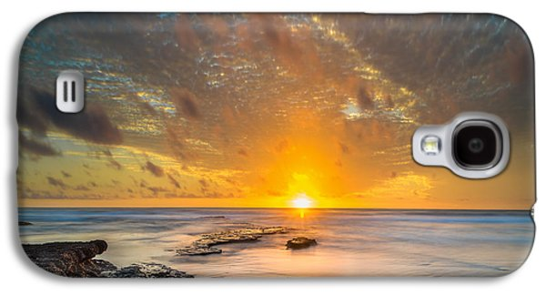 Seaside Sunset - Square Galaxy S4 Case by Larry Marshall