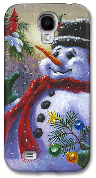 Winter Paintings Galaxy S4 Cases - Seasons Greetings Galaxy S4 Case by Richard De Wolfe