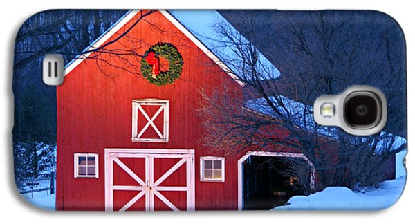 New England Snow Scene Galaxy S4 Cases - Seasons Greetings Galaxy S4 Case by Thomas Schoeller