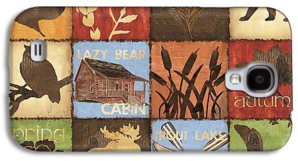 Canoe Paintings Galaxy S4 Cases - Seasons Lodge Galaxy S4 Case by Debbie DeWitt