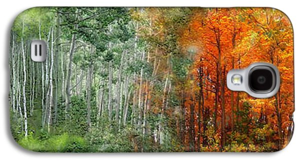 The Trees Mixed Media Galaxy S4 Cases - Seasons Of The Aspen Galaxy S4 Case by Carol Cavalaris