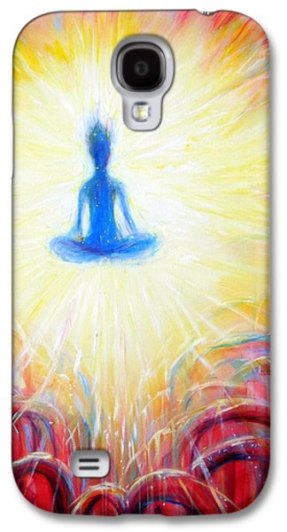 Chakra Paintings Galaxy S4 Cases - Seat of the Soul Galaxy S4 Case by Heather Calderon