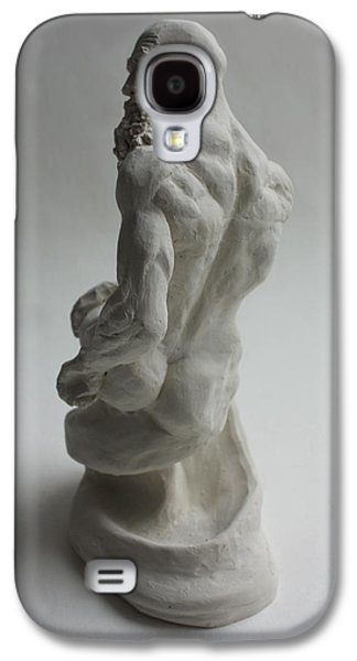 Nudes Sculptures Galaxy S4 Cases - Seated Genie  Galaxy S4 Case by Derrick Higgins