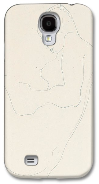 Sex Drawings Galaxy S4 Cases - Seated Nude Galaxy S4 Case by Egon Schiele