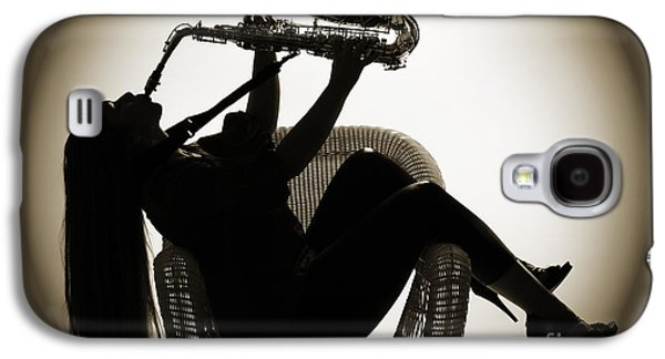 Saxophone Photographs Galaxy S4 Cases - Seated Saxophone playere Galaxy S4 Case by M K  Miller