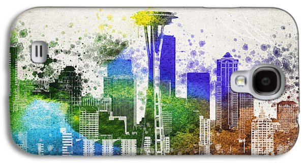 Seattle City Skyline Galaxy S4 Case by Aged Pixel