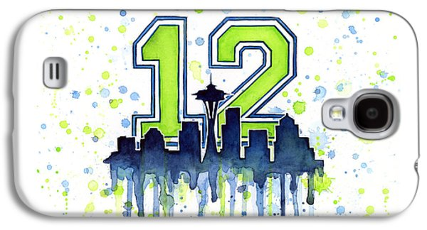 Seattle Seahawks 12th Man Art Galaxy S4 Case by Olga Shvartsur