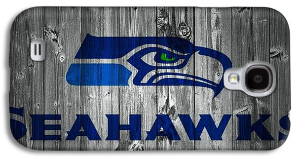 Champion Mixed Media Galaxy S4 Cases - Seattle Seahawks Barn Door Galaxy S4 Case by Dan Sproul