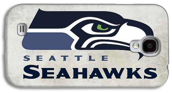 Pro Football Galaxy S4 Cases - Seattle Seahawks Fan Panel Galaxy S4 Case by Daniel Hagerman