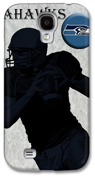 Pro Football Galaxy S4 Cases - Seattle Seahawks Football Galaxy S4 Case by David Dehner