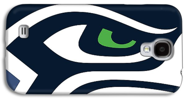 Print Mixed Media Galaxy S4 Cases - Seattle Seahawks Galaxy S4 Case by Tony Rubino