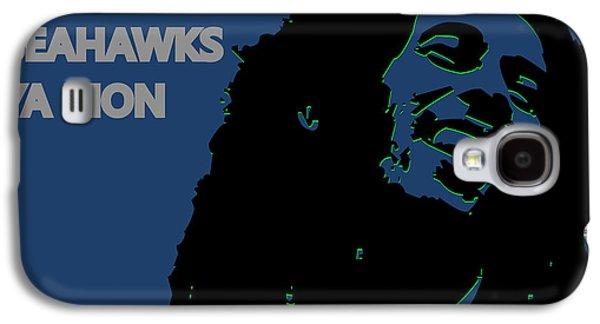 Seattle Seahawks Ya Mon Galaxy S4 Case by Joe Hamilton