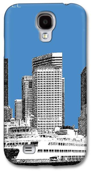Modern Architecture Digital Art Galaxy S4 Cases - Seattle Skyline - Slate Galaxy S4 Case by DB Artist