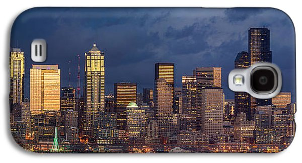 Recently Sold -  - Light Galaxy S4 Cases - Seattle Skyline Sunset Detail Galaxy S4 Case by Mike Reid