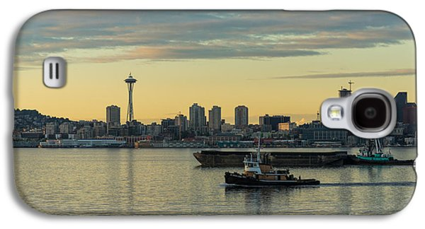 Quiet Galaxy S4 Cases - Seattles Working Harbor Galaxy S4 Case by Mike Reid