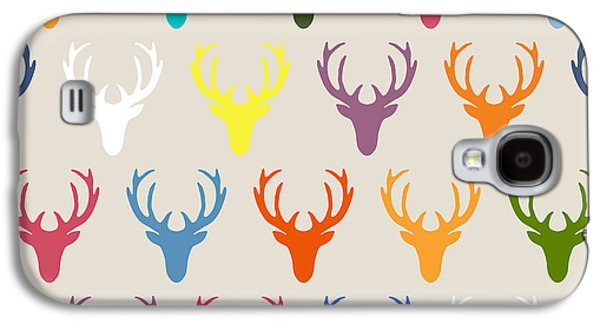 Seaview Simple Deer Heads Galaxy S4 Case by Sharon Turner