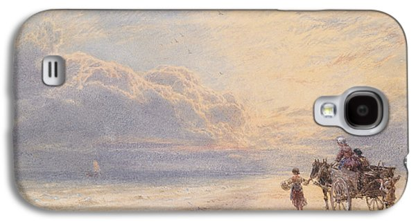 Seaweed Gatherers Galaxy S4 Case by Myles Birket Foster