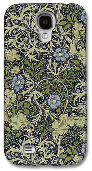 Food And Beverage Tapestries - Textiles Galaxy S4 Cases - Seaweed Pattern Galaxy S4 Case by William Morris