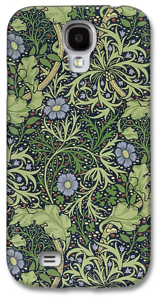 Floral Tapestries - Textiles Galaxy S4 Cases - Seaweed wallpaper design Galaxy S4 Case by William Morris