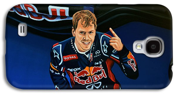 United States Paintings Galaxy S4 Cases - Sebastian Vettel Galaxy S4 Case by Paul Meijering