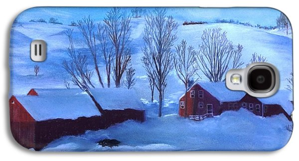 Winter Scene Pastels Galaxy S4 Cases - Second Snow Galaxy S4 Case by Vincent Mancuso