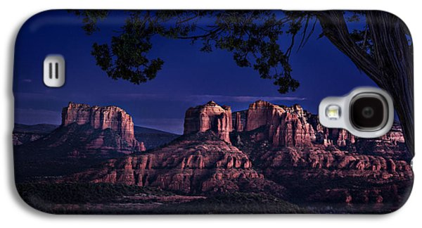Cathedral Rock Photographs Galaxy S4 Cases - Sedona Cathedral Rock Post Sunset Glow Galaxy S4 Case by Mary Jo Allen