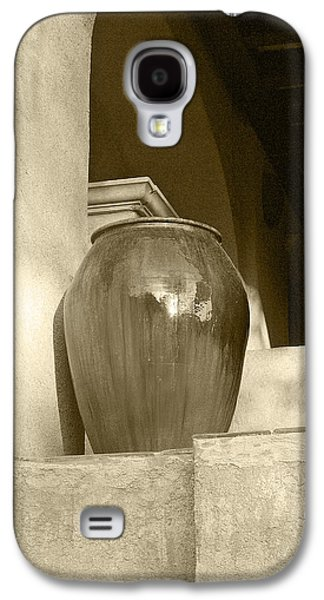 Brown White Sedona Trees Galaxy S4 Cases - Sedona Series - Jug In Sepia Galaxy S4 Case by Ben and Raisa Gertsberg